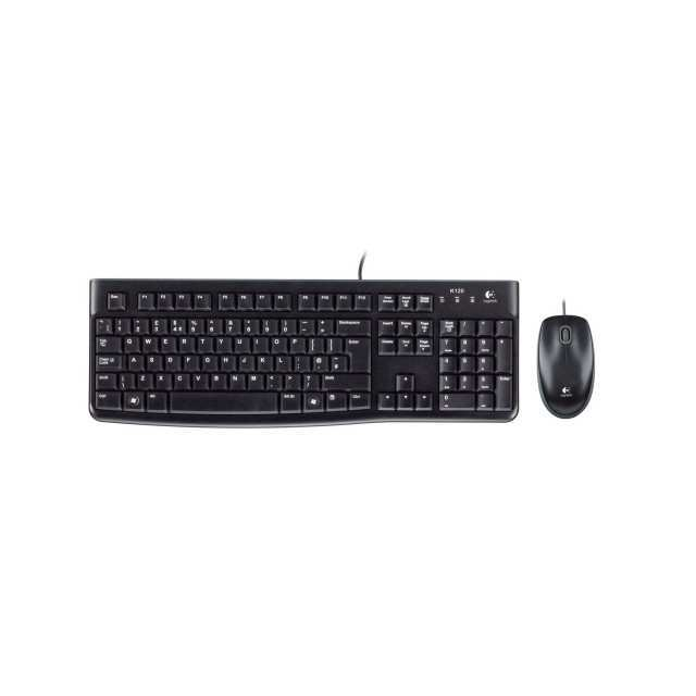 Logitech MK120 USB Computer Keyboard with Mouse