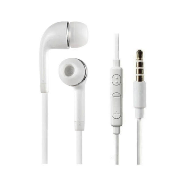 White EHS64 Earphone with Mic Samsung Model