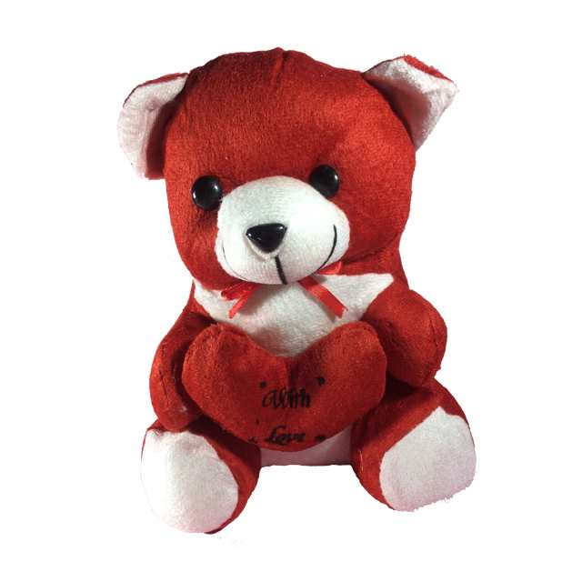 Teddy Bear With Love Message Red For Kids