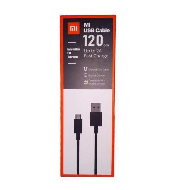Micro USB Fast Charging Cable 2A Black – 1.2M