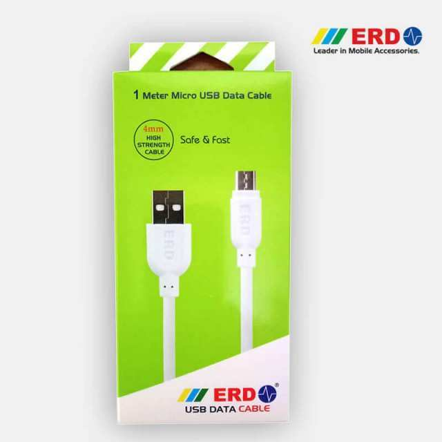 White ERD UC-21 Mico USB Data Cable – 2.1Amp