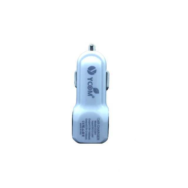 YCOM Dual USB Port Car Charger 2.4A Output